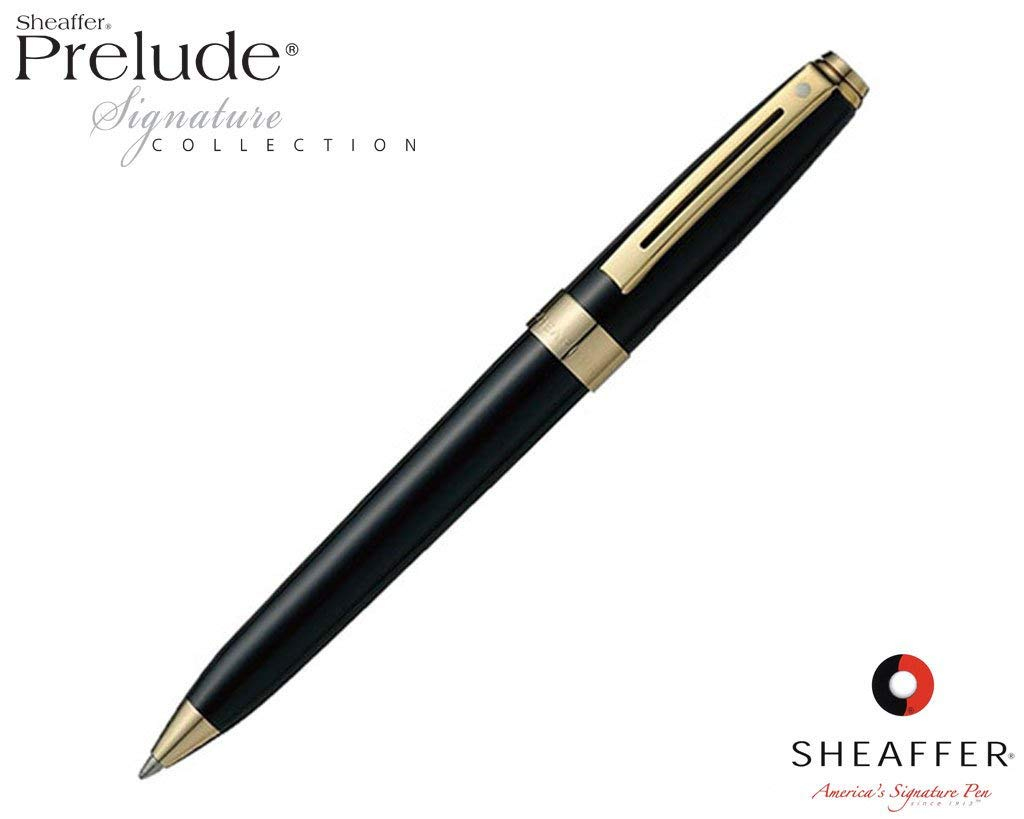 Sheaffer Prelude Signature Black Laque G/T Ballpoint Pen 9173-2