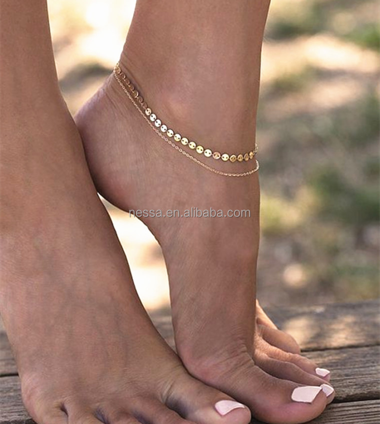 Fashion Gold Chain Anklet wholesale NSXR-0208