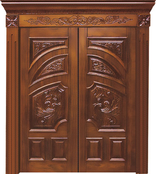 China Supplier Best Design Double Leaf Solid Wood Main