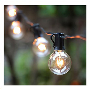 G40 Outdoor Decoration String Light 10m 30 LED bulb for Party Wedding Holiday