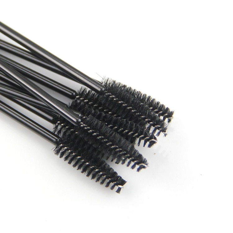 Wholesale Black One Time Use  Makeup Mascara Wands Eyebrow Brush Spiral Disposable Eyelash Makeup Brushes