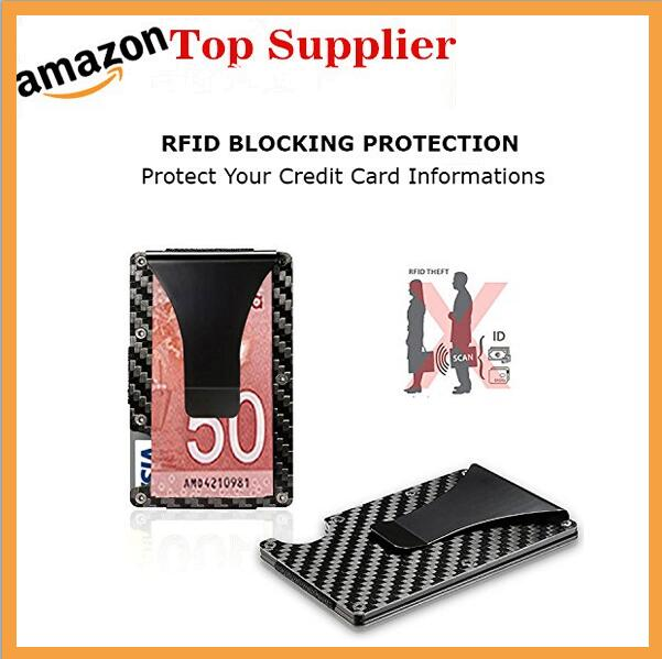 Amazon en iyi satılanlar Promosyon hediye Alüminyum RFID çekme tab kart tutucu