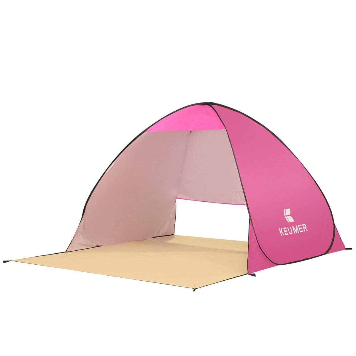 CORESPOT LLC Pop Up Beach Tent Camping Sun Shelter Outdoor Automatic Cabana 2-4 Person Fishing Anti UV Beach Tent Beach Shelter, Sets up in Seconds