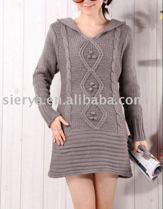 Ladies Long V Neck Wool Pullover Sweater - Buy Lladies Long V Neck ...