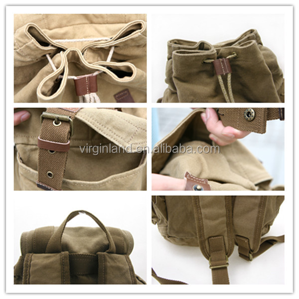 b8906d8c57 Hot Selling Funny Vintage Old School Style Washed Canvas School Backpacks  Used Pattern