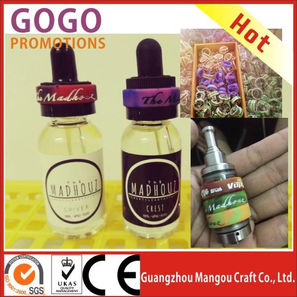Custom Malaysia E Liquid E Juice Bottle Glow In The Dark Silicone Vape Band  Manufacture Supplier Customised Silicon Vape Bands - Buy Glow In The Dark