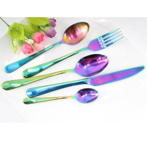 Nice new model PVD Coating 18 10 stainless steel flatware, titanium cutlery set of China cutlery supplier
