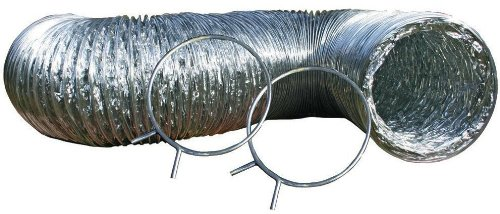Speedi-Products EX-TDK 425 4-Inch Diameter by 5-Feet Length UL Transition Duct Kit with Spring Clamps