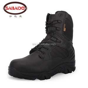 2017 factory cheap price leather tactical military combat army ankle boots hiking shoes for men
