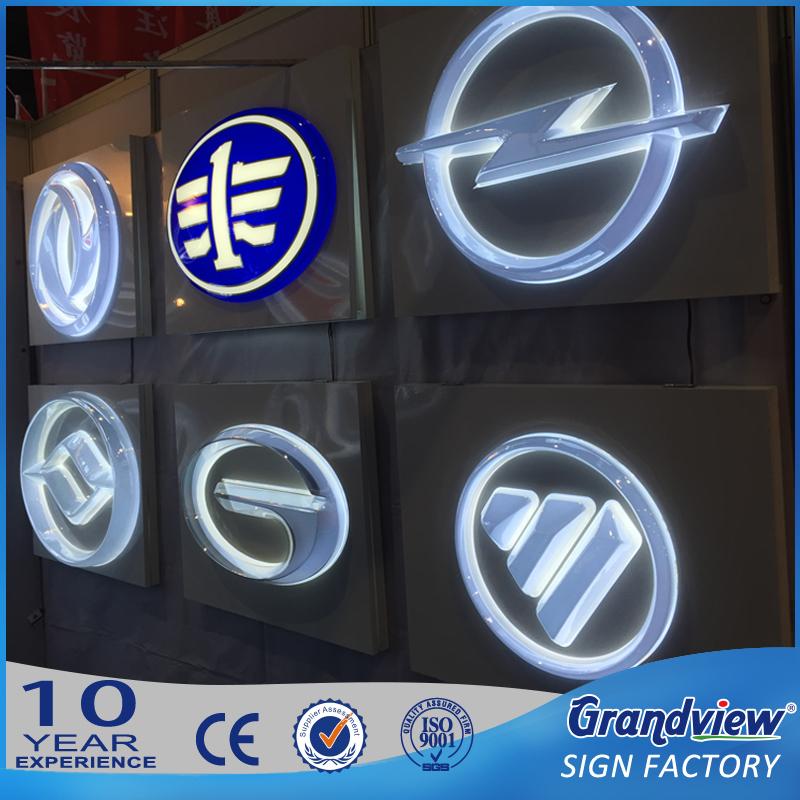 Auto 3d Verlichte Logo Led Auto Logo Teken Auto Pyloon Teken Buy