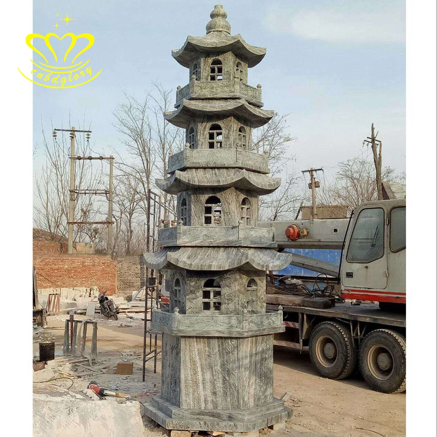 China Leverancier Stone Carving Nieuwe Product Marmer Lantaarns Pagode Voor Outdoor Tuin Decor