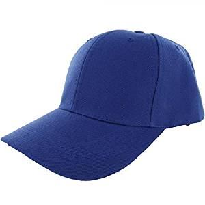 Get Quotations · Blue-100% Acrylic Plain Baseball Cap Baseball Golf Fishing Cap  Hat Men Women Adjustable 001b8883e505