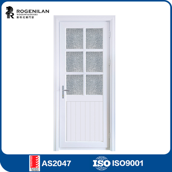 Rogenilan Commercial Interior Doors With Soundproof Glass Aluminum Half  Glass Door Design