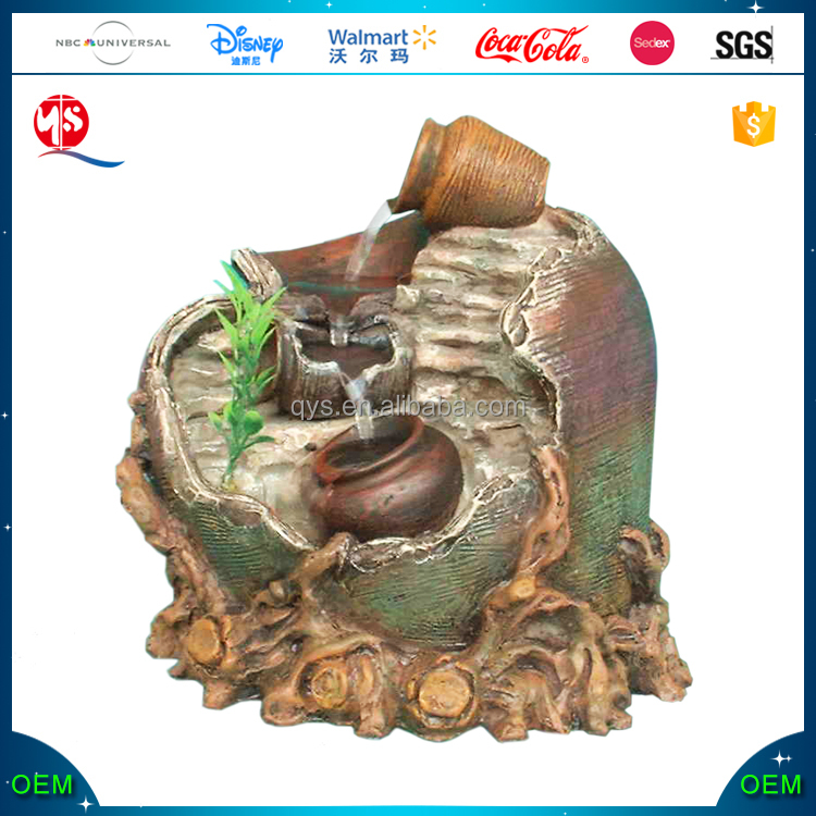 Resin Lighted Indoor Tabletop Water Fountain
