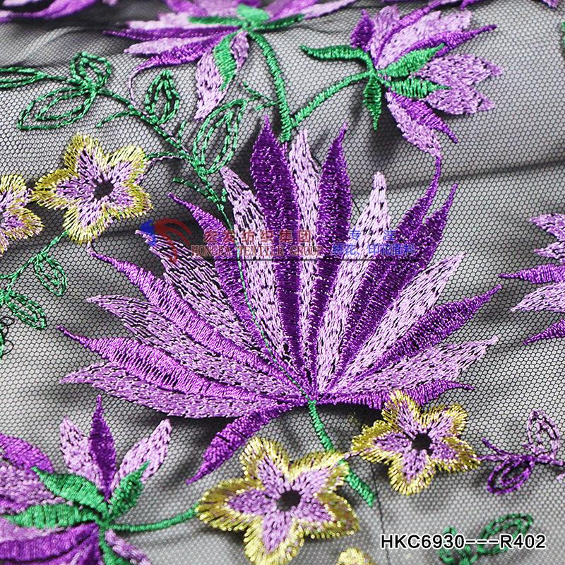 Llanura Púrpura Tela Reparto Tela Floral Con Metálico Moda Ropa ...