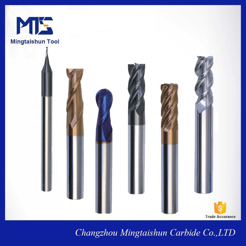 Extra Long Shank 2 Flute Coated Tialn End Mill Cutters For Steel Cutting/Solid Carbide Milling Tools