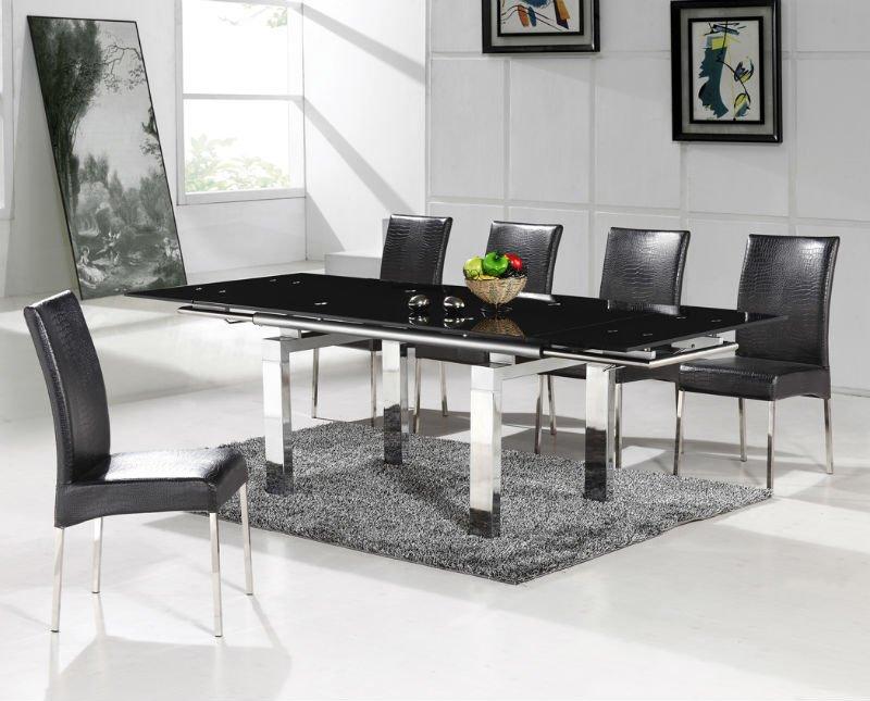 Espandibile tavolo da pranzo moderno design emt t005 for Tavolo salone moderno