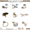 2016 Most Popular Wall Mounted Antique Brass Bathroom Accessory Sets For Paper Holder Towel Bar Robe Hook Glass Shelf