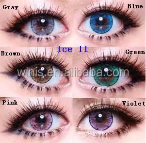 hot korea eos luna ice ii hazel cheap green colored contact lenses - Colored Contacts Hazel