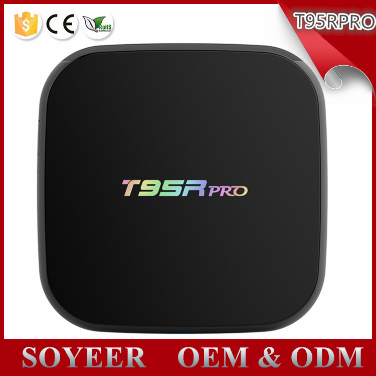 Soyeer T95R Pro Google Play Store App Free Streaming Download Android Tv Box 3GB RAM Dual wifi