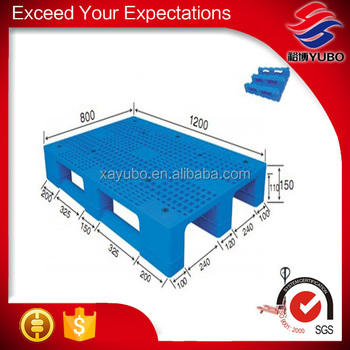 1200x800 pallet, 4-way entry nestable compressed plastic pallet factory selling
