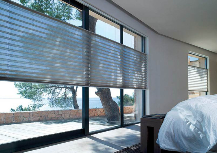 simple one way paper pleated plissee window blinds for. Black Bedroom Furniture Sets. Home Design Ideas