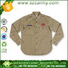 Herringbone cotton American gas station workwear style shirt