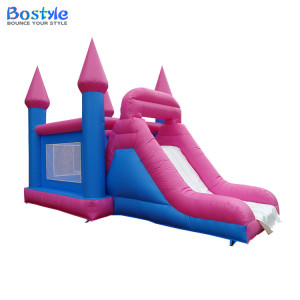 New design moon walks bounce house, commercial inflatable bouncy castle with slide for kids