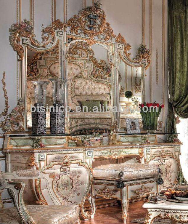 Luxury European Style Royal Wooden Hand Carving And