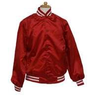 Mens custom wholesale satin baseball jackets 2017
