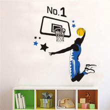 Removable room decor 3d basketball wall stickers