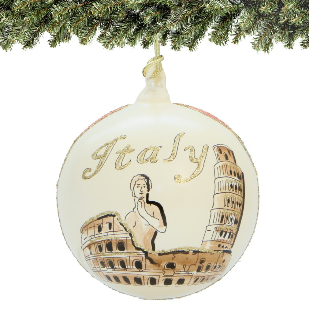 rome italy christmas ornament hand painted glass ball hand blown italian glass christmas ornaments with