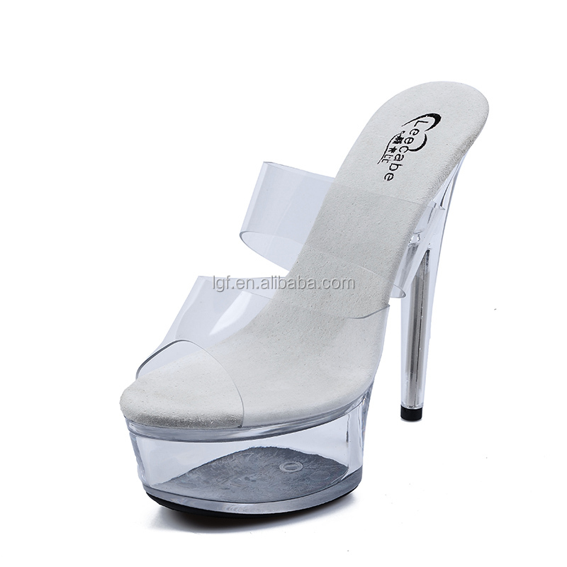 dance high shoes shoes shiny heel platform pole Latest Clear xBwFqUn7n
