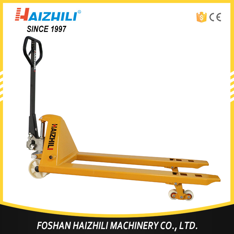 550mm Fork Width 3000kg / 3 ton Hand Narrow Pallet Truck for sale