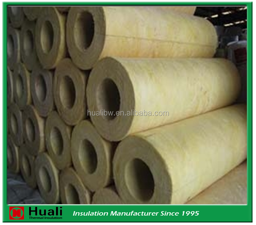 Non-combustible Fireproof Insulation 120kg/m3 Rock Wool for Steam Pipe