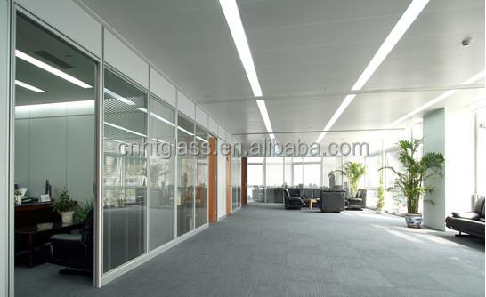 China supplier12mm gehard glas kantoor glazen wand buy product on - Verwijderbare partitie ...