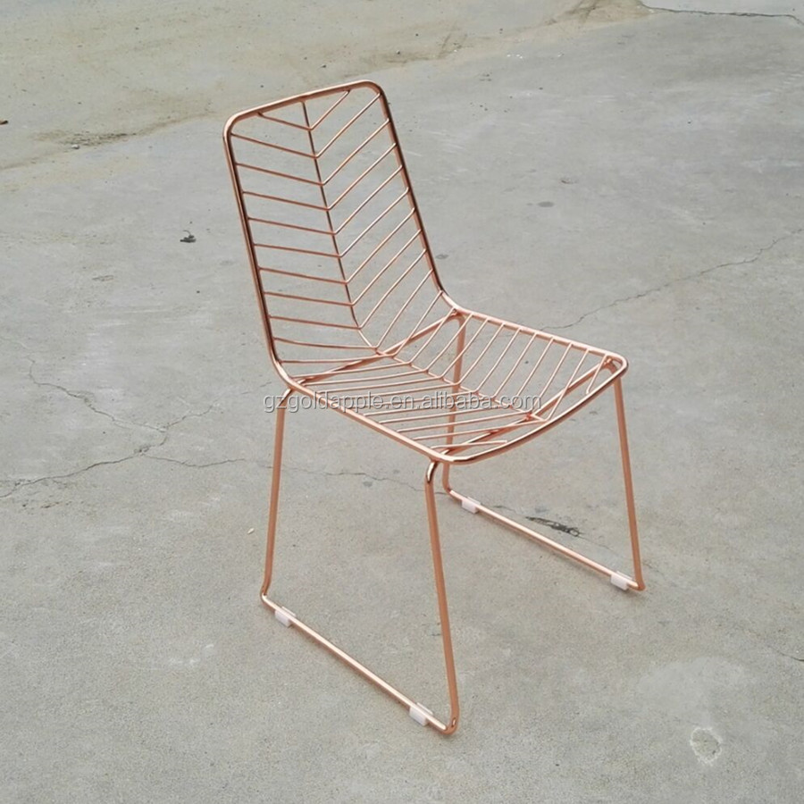 Rose Gold Wire Dining Chair,Metal Wire Mesh Stackable Chair   Buy Wire  Dining Chair,Stackable Chair,Wire Mesh Chair Product On Alibaba.com
