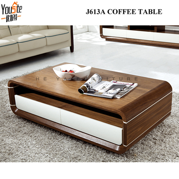 Coffee Tables Furniture White Color Wooden Tea Table Design View