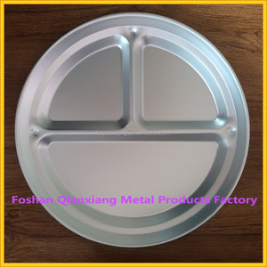 Low price metal serving tray high quality divided snack plates dishes