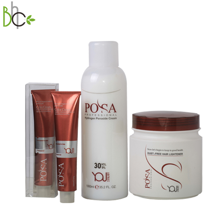 POSA wholesale Professional hair Color Cream for salon use