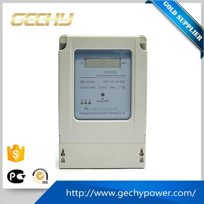 3 phase 3 wire electrical type LCD digital diaplay watt hour meter/energy meter/ power meter