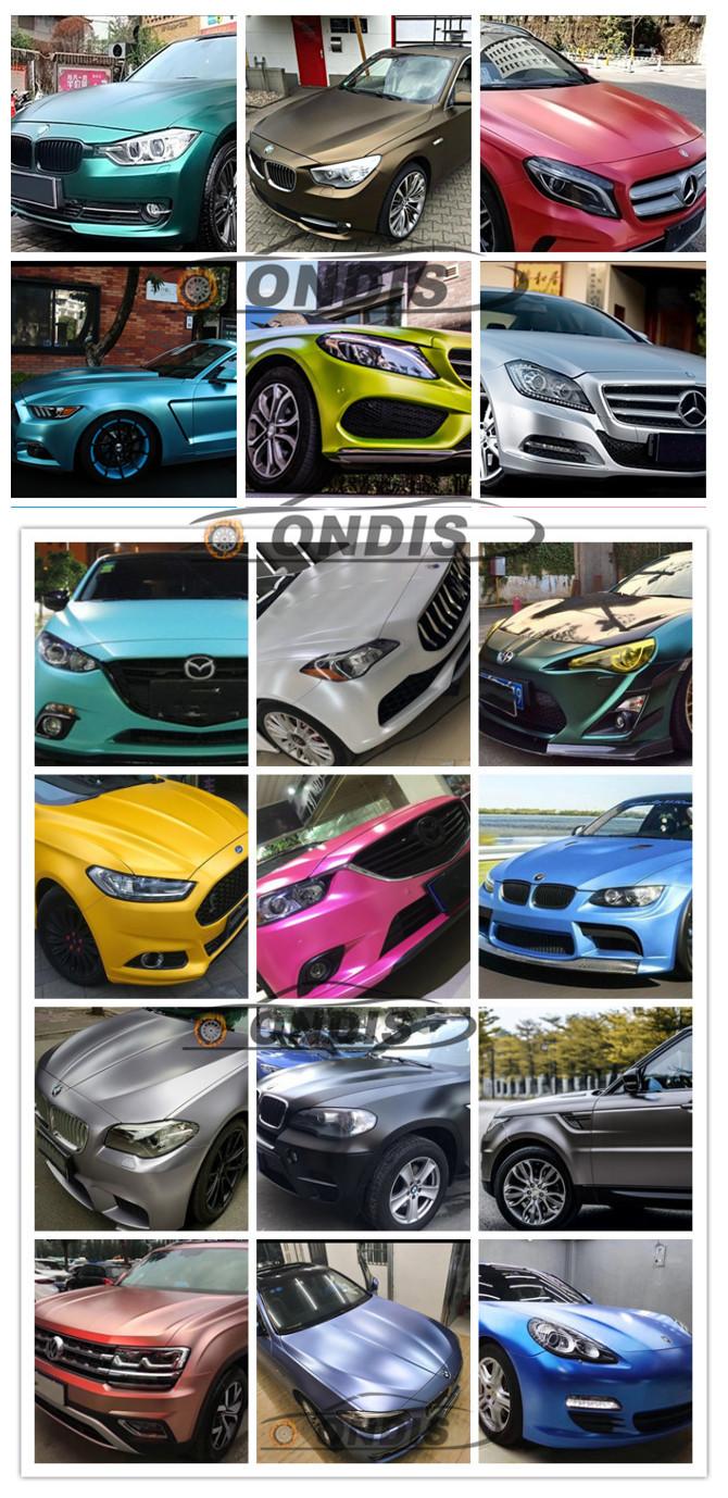 Hot selling color 1.52*18M matte lightning Metal Flash Car Styling Vinyl Wrap Film