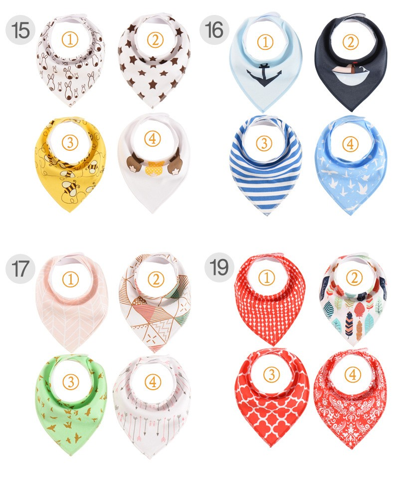 Factory Price Cotton Baby Bib Baby Bandana Drool Bibs