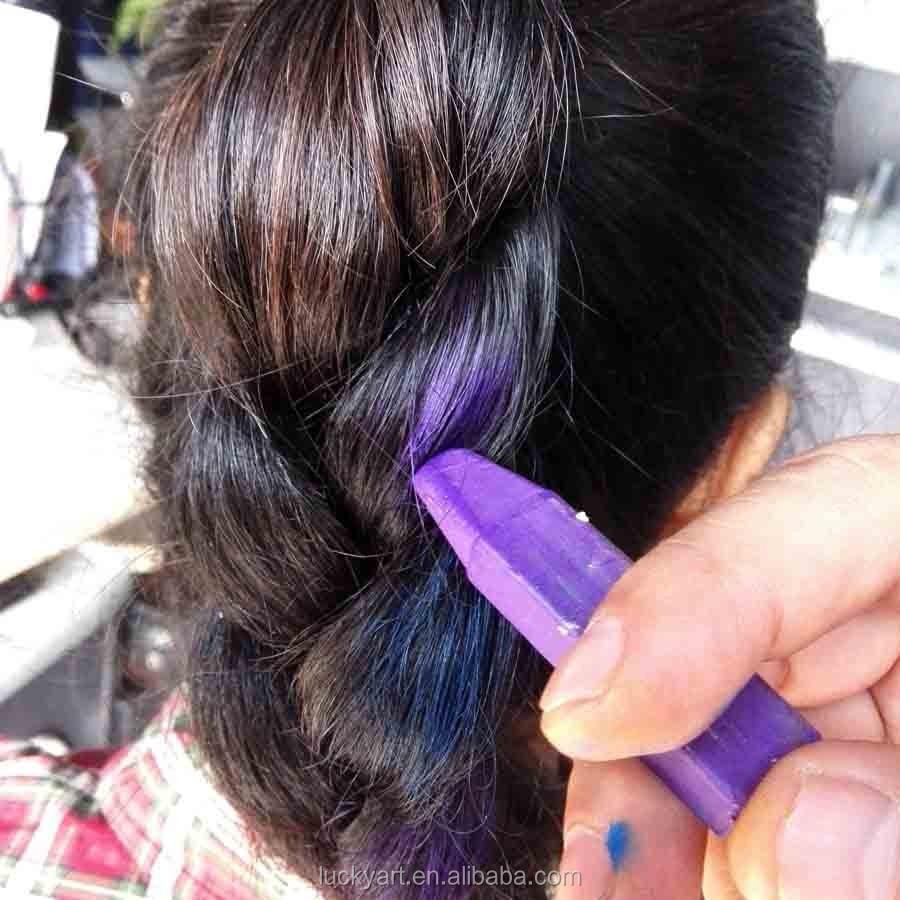 Easy Use Temporary Hair Colour Chalk Non Toxic Washable Diy Hair - Hair colour chalk