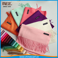 wholesale cashmere scarf logo hot sell solid color cheap plain cashmere feeling shawl