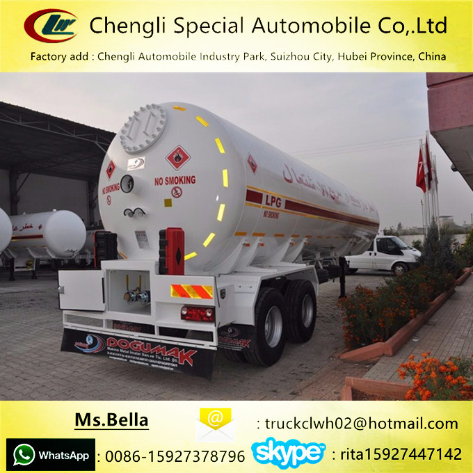 Tangki Penyimpanan LPG 20ton Harga On Sale LPG Transport Trailer