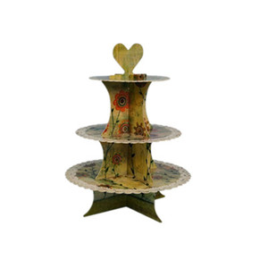 festive party supplies 3 tier tall heart cake cup stand