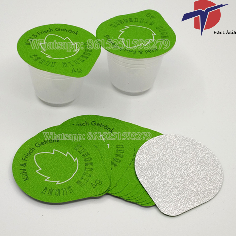 Berwarna Aluminium Foil Yogurt Cup Seal