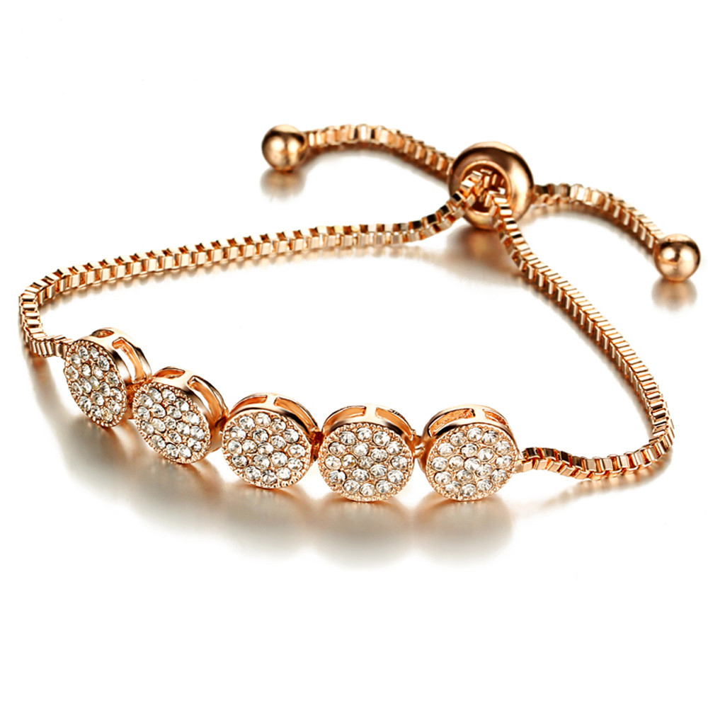 Fashion Gold Rhinestone Charm Ladies Bracelets For Women Wholesale NS802971
