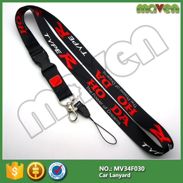 JDM racing TYPE R type-r Lanyard Neck Strap rope car accessories for Civic Integra NSX WP